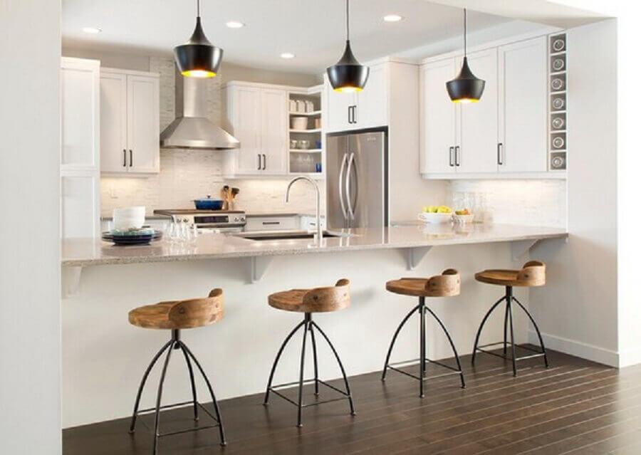 modelos de bancos para cozinha americana moderna