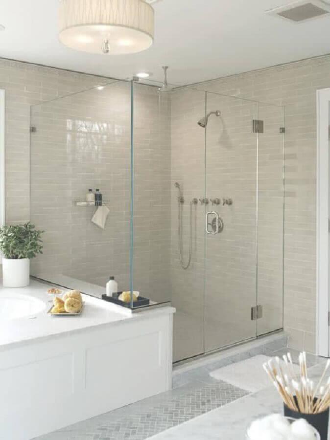 modelos de banheiro com decoração clean