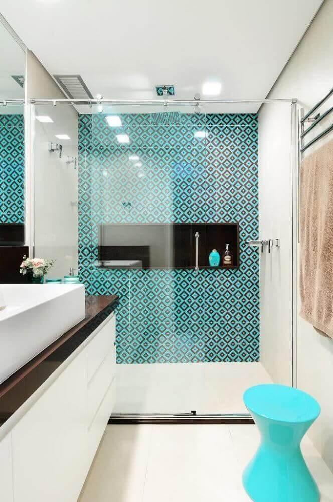 modelos de banheiro com ladrilho hidráulico
