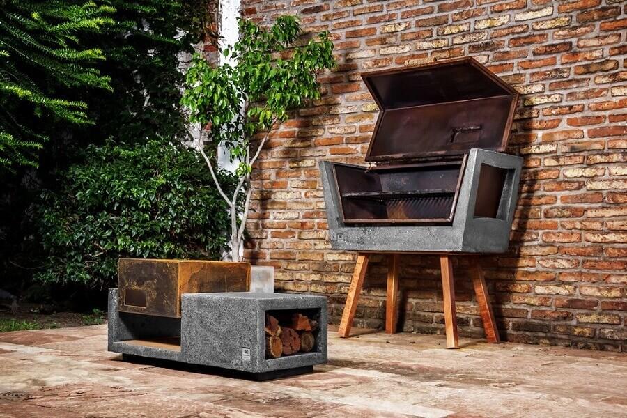 modelos de churrasqueira de ferro