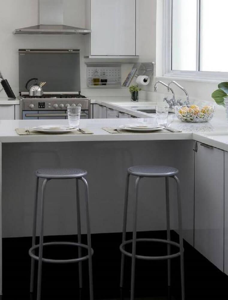 modelos simples de banqueta alta para cozinha