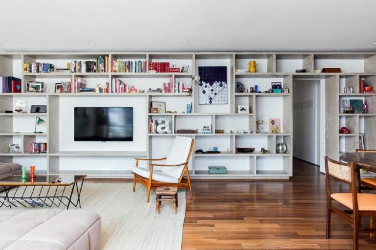 Os nichos para sala decoram e organizam o ambiente