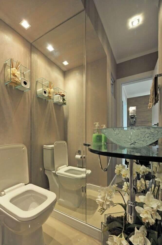 nicho de vidro para banheiro