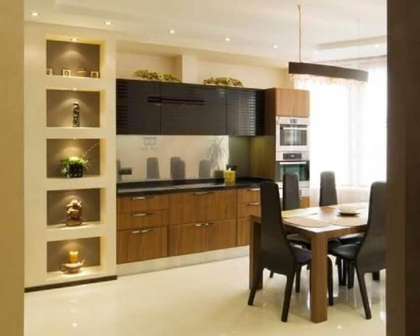 nichos embutidos para sala de jantar