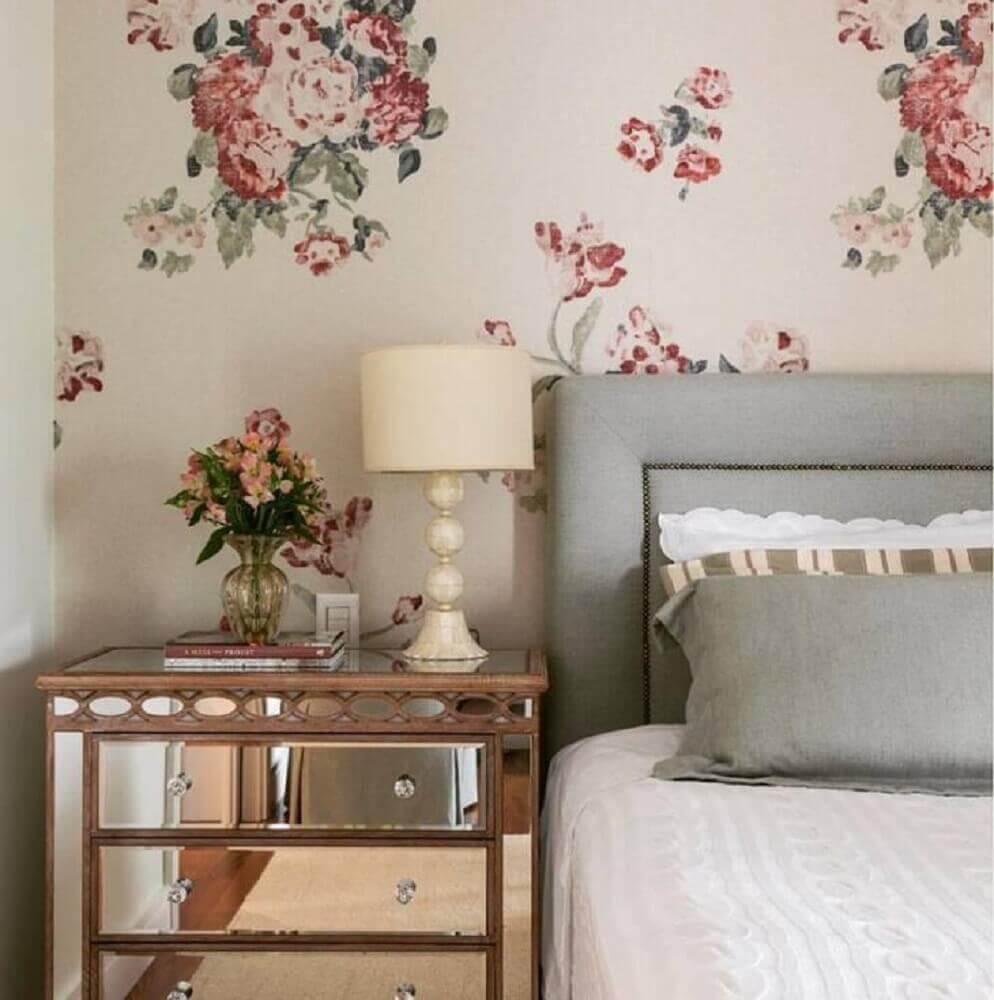 papel de parede floral para quarto feminino
