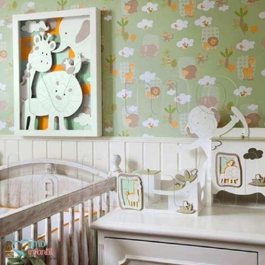 papel de parede infantil para quarto de bebê