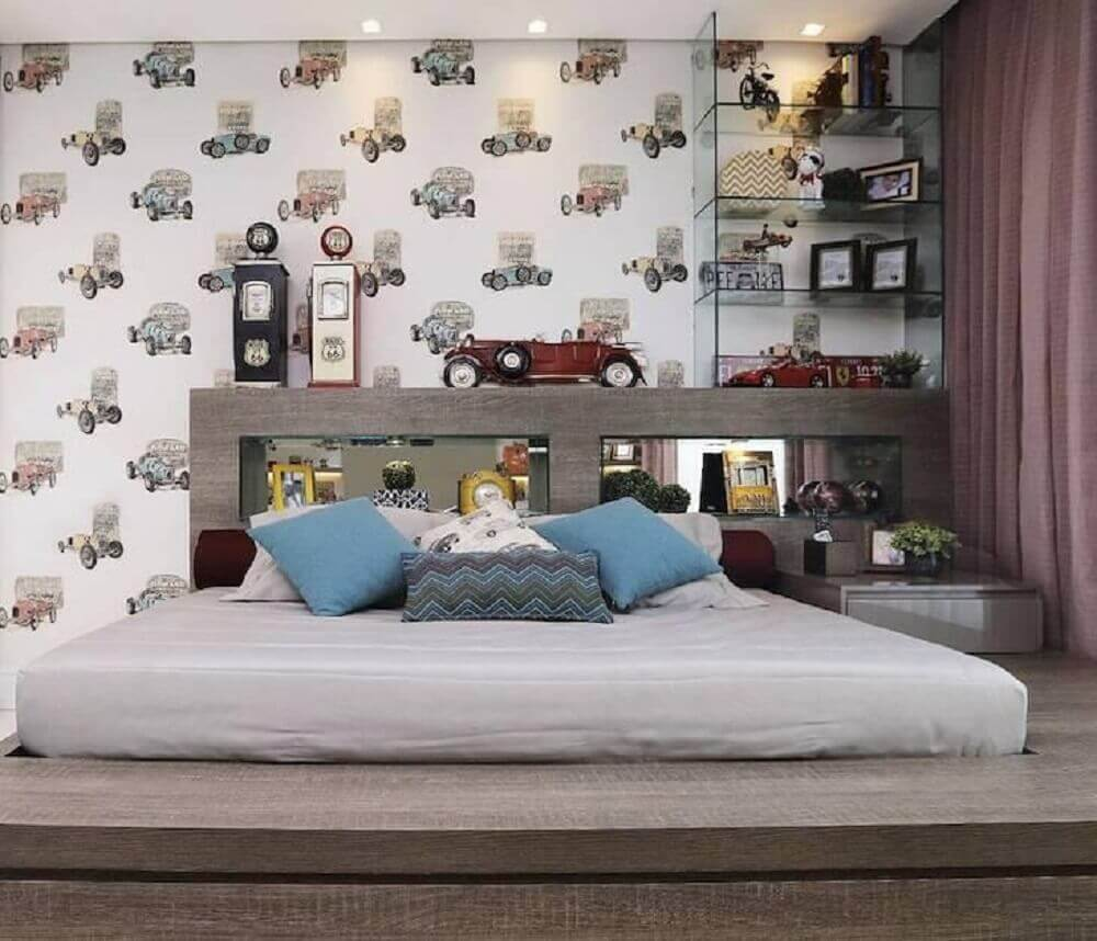 papel de parede para decoração de quarto jovem masculino