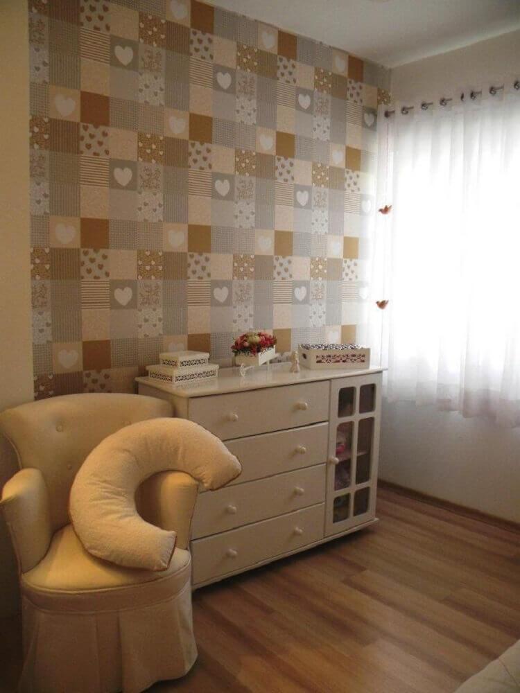 papel de parede para quarto de bebê com estampas diferentes