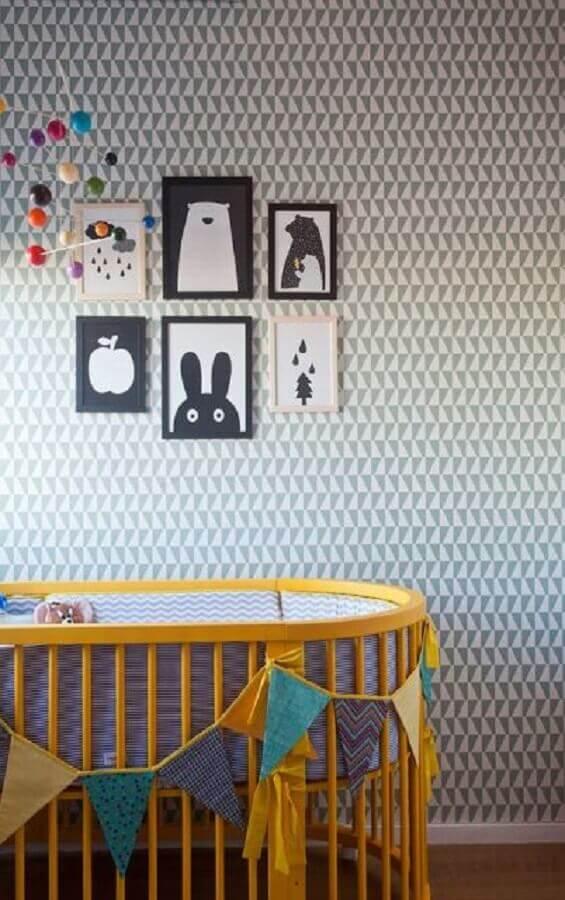 papel de parede para quarto de bebê neutro