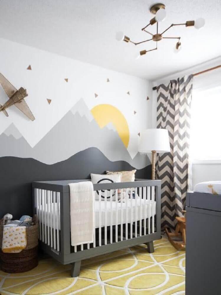 papel de parede para quarto de bebê no estilo escandinavo