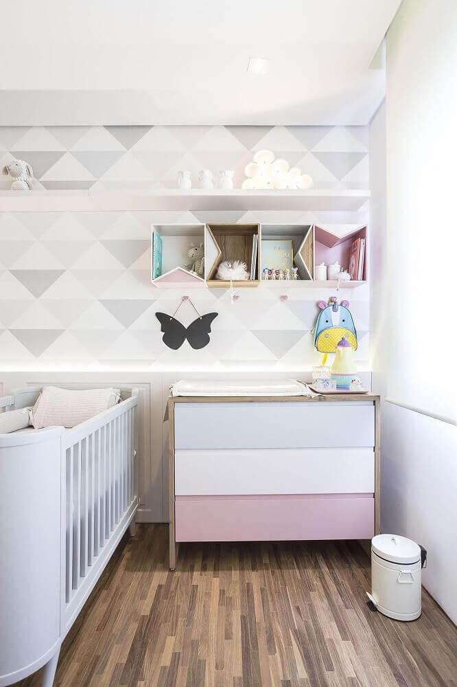 papel de parede para quarto de bebê com tema neutro
