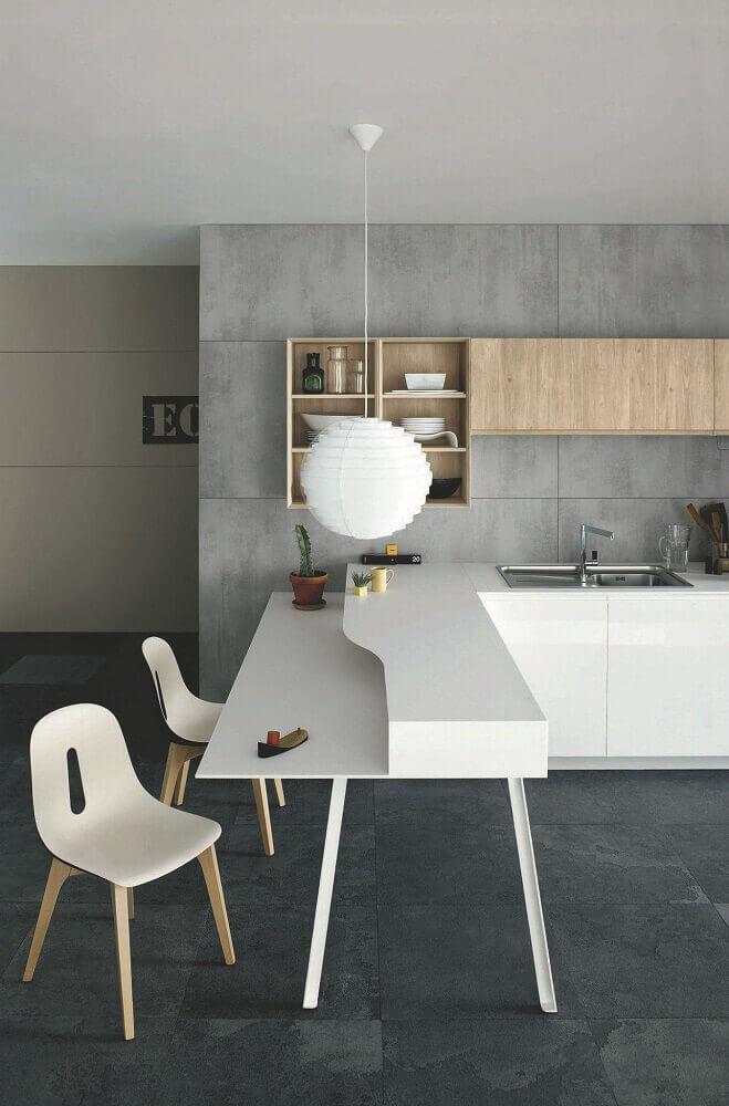 pendente branco para cozinha clean