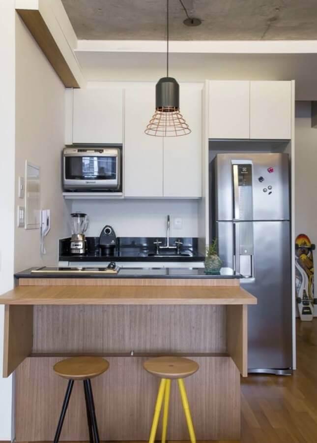 pendente para cozinha pequena e simples Foto ArchDaily