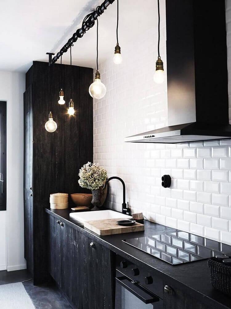 pendentes minimalistas para cozinha