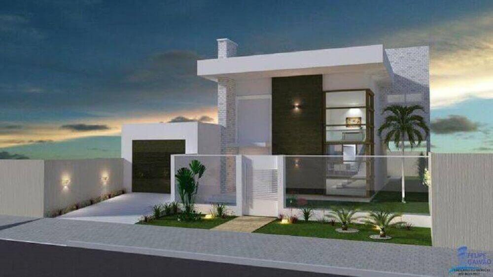 projeto de casas com platibanda