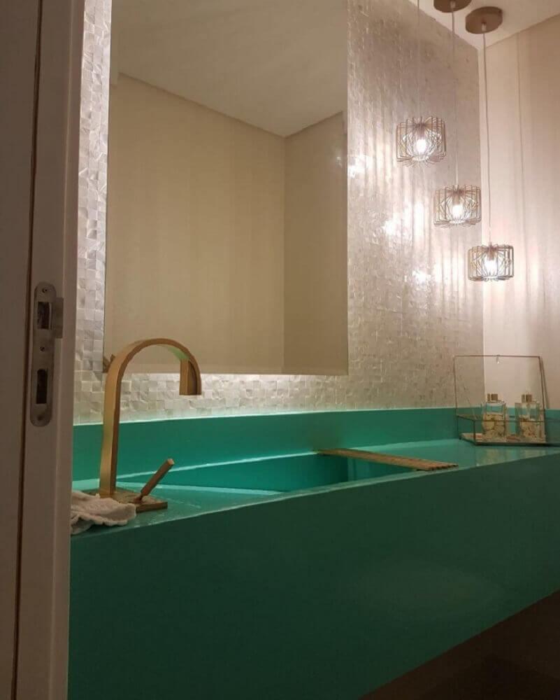 silestone verde para banheiro
