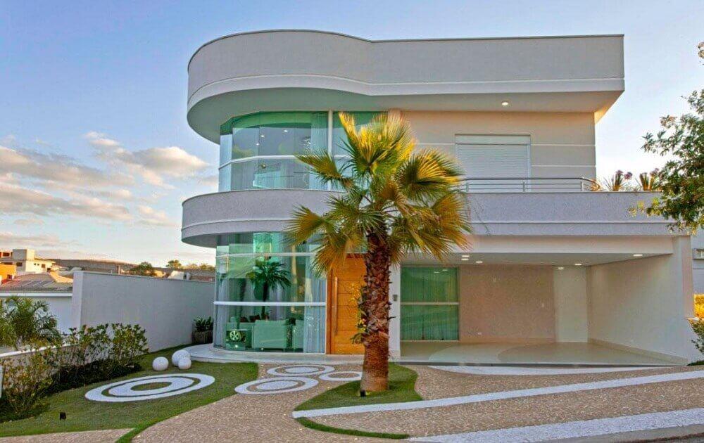 telhado platibanda curvilíneo