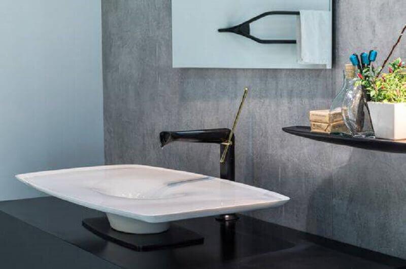 torneira para pia de banheiro com design arrojado
