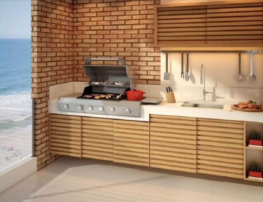 varanda com churrasqueira elétrica a bafo