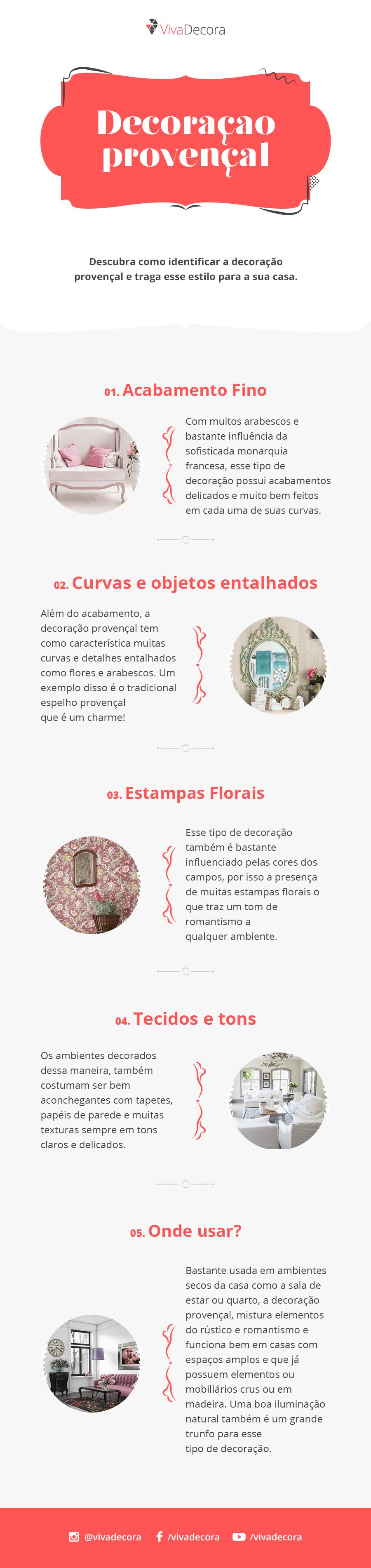 Infográfico - Decoração Provençal
