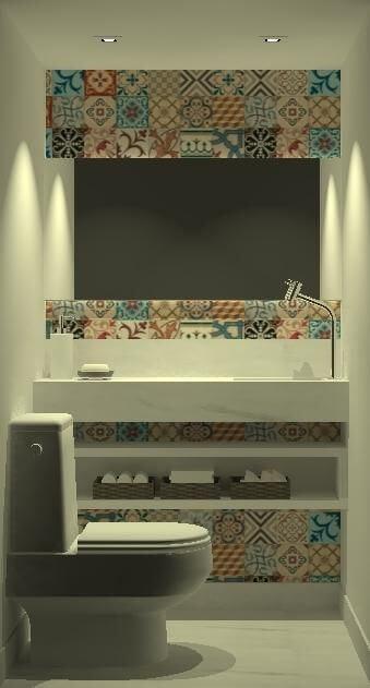 Adesivo de azulejo para banheiro Projeto de Igor de Moraes Figueiredo