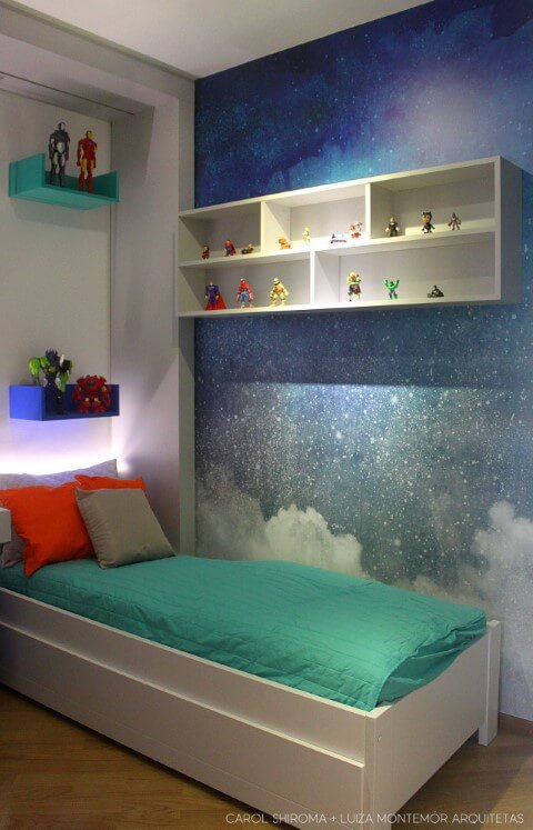 Adesivos de parede para quarto de céu Projeto de Luiza Montemor