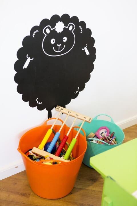 Adesivos de parede para quarto de ovelha Projeto de Buji