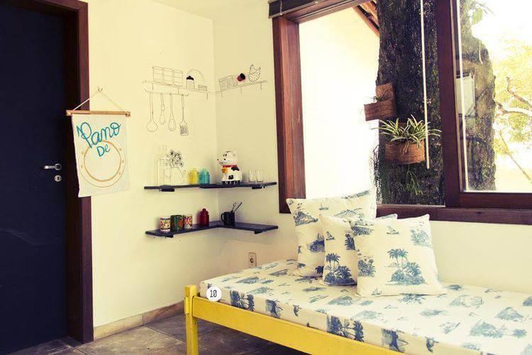 Adesivos de parede para quarto imitando utensílios de cozinha Projeto de Casa Aberta