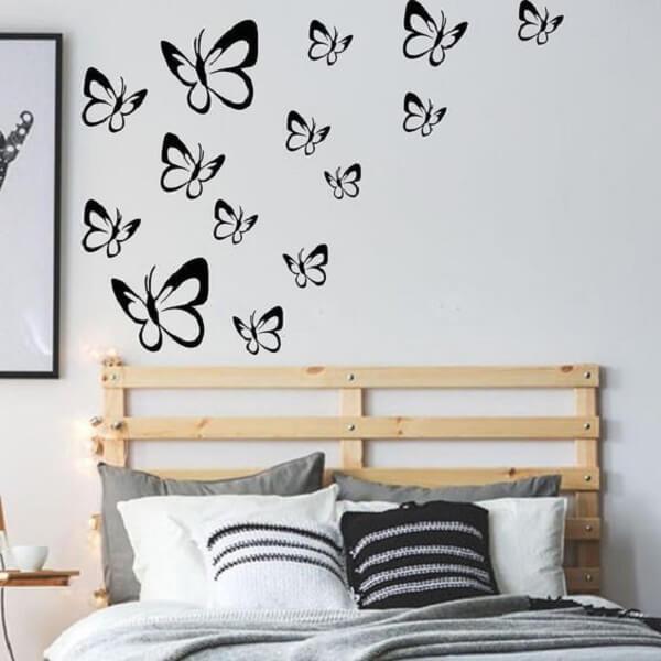 As borboletas invadem a decoração do quarto. Fonte: Pinterest