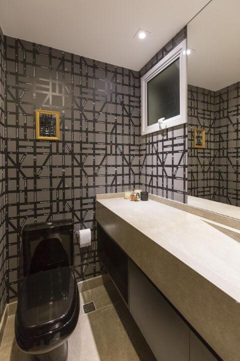 Azulejo para banheiro cinza e preto Projeto de Conseil Brasil