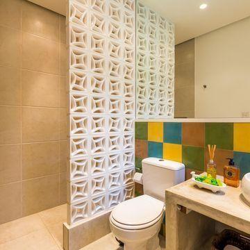 Azulejo para banheiro colorido