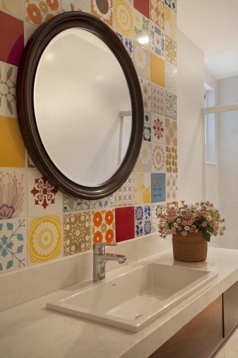 Azulejo para banheiro decorado Projeto de Artis Design