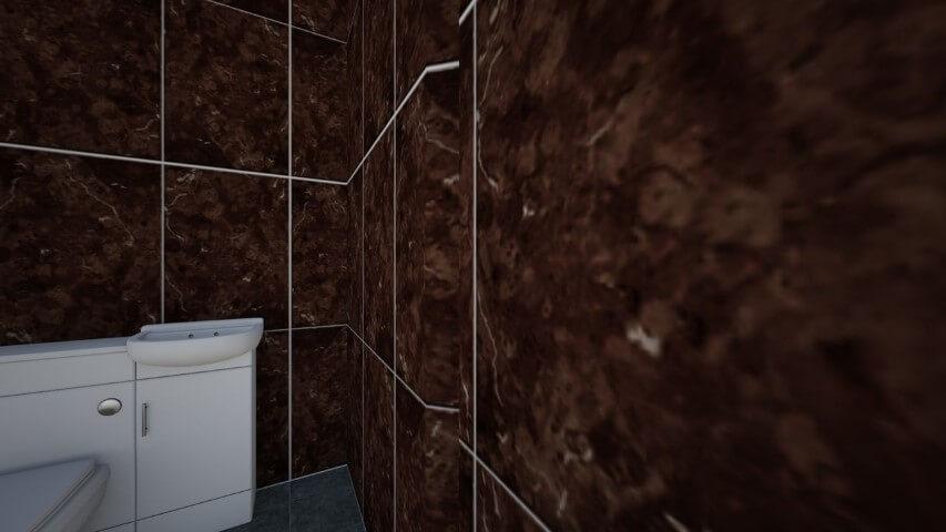 Azulejo para banheiro marrom
