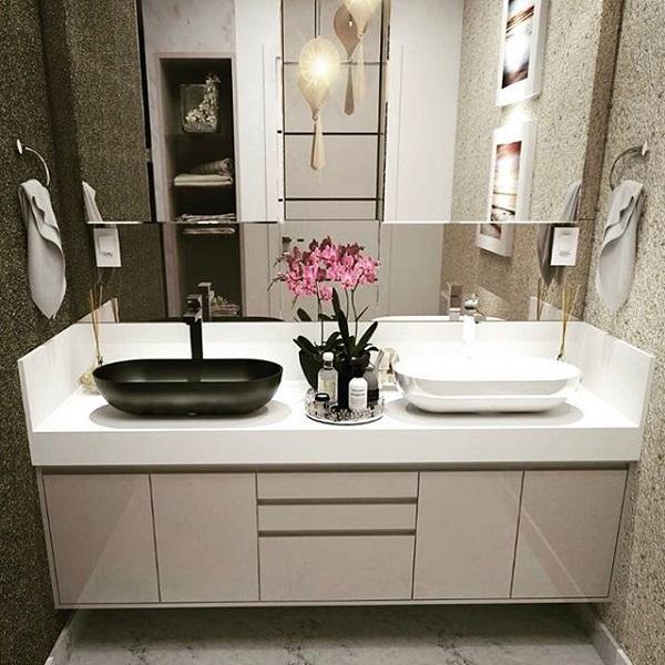 Bancada de banheiro casal