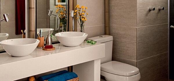 Bancada de banheiro clássica