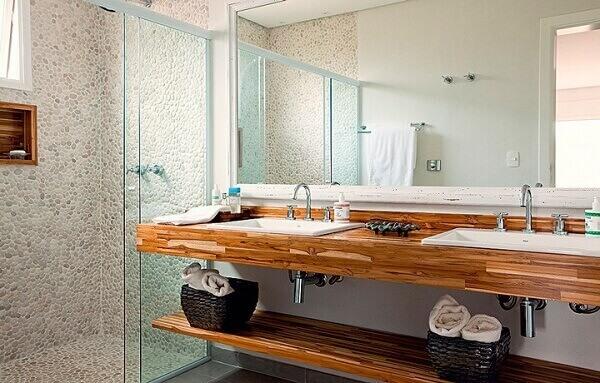 Bancada de banheiro clean