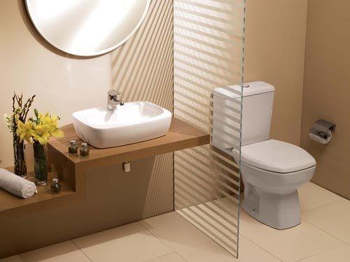 Bancada de banheiro com cuba quadrada