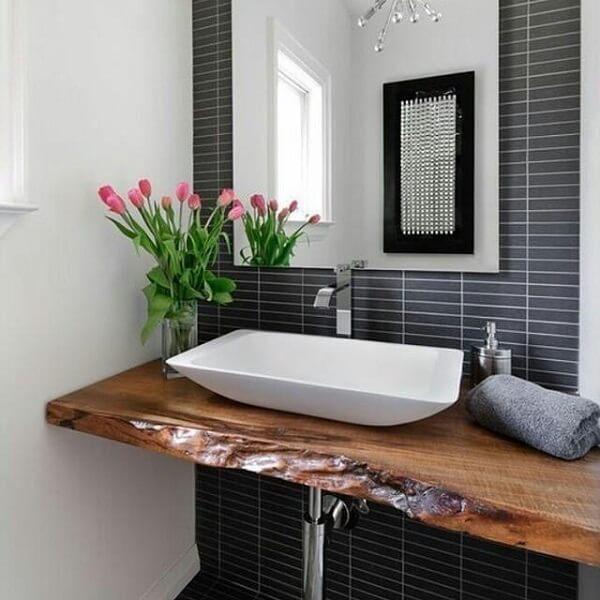 Bancada de banheiro ité madeira