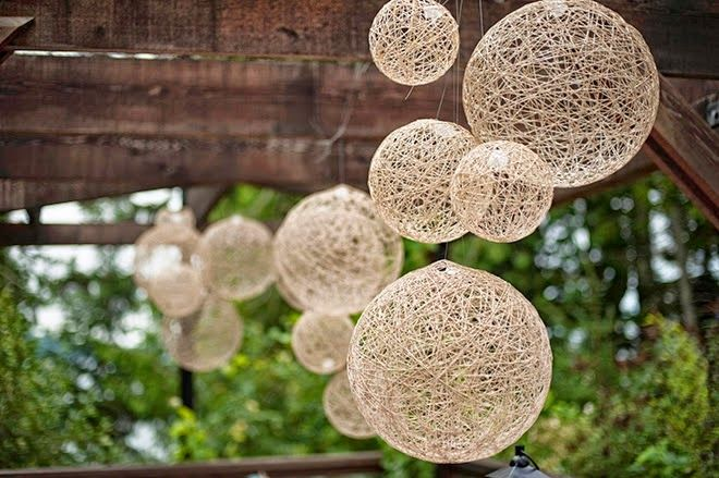 Decoration ball for rustic wedding