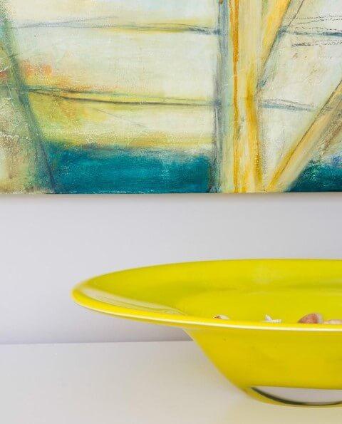 Centro de mesa amarelo Projeto de Marilia Veiga