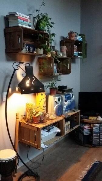 Como fazer nichos com caixa de feira