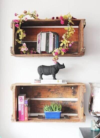Como fazer nichos com caixotes de feira Projeto de Celine Desroches