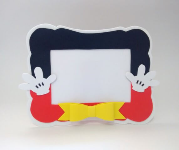 Como fazer porta-retrato de EVA do Mickey