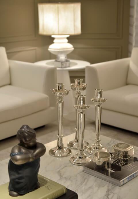 Como limpar prata com castiçais de prata Projeto de Marlon Gama