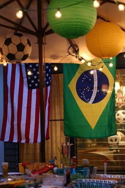 Decoração de copa do mundo bandeiras grandes