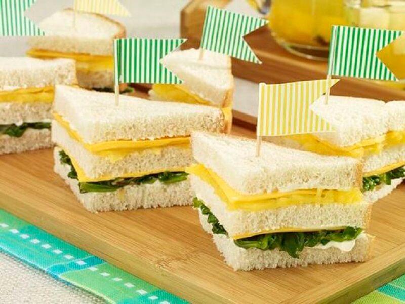 Decoração de copa do mundo - sanduiches