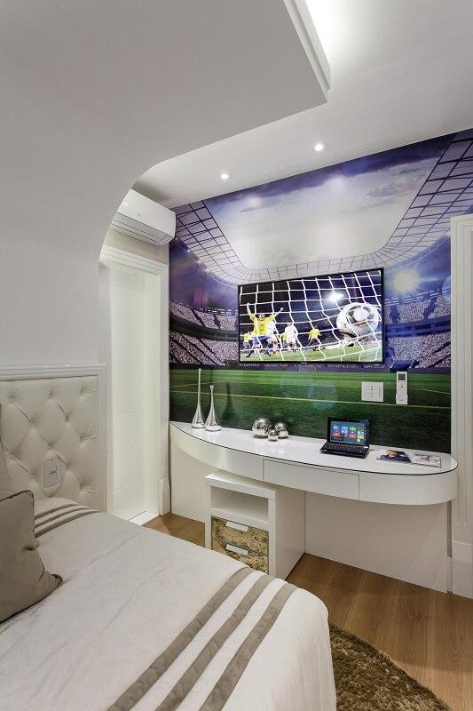 Decoração de quarto de casal copa do mundo projeto de Aquiles Nicol