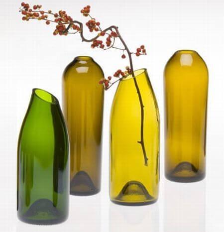 Decoração feita com tutorial de como cortar garrafa de vidro