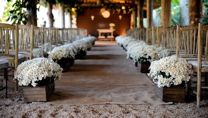 Entrada para decoração de casamentos rústico