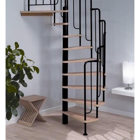 Escada de ferro caracol minimalista